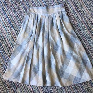 Dresses & Skirts - VINTAGE pleated plaid wool skirt with drop waist